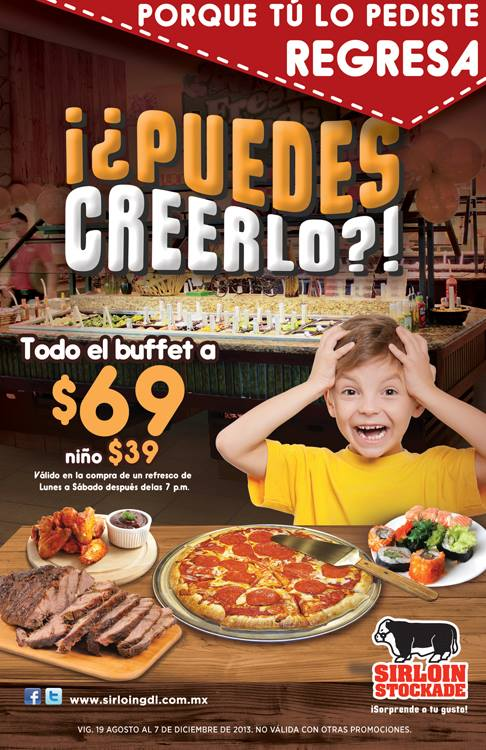 Buffet a $69 pesos